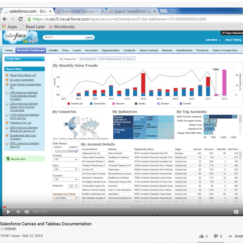 Tableau Embedded Analytics in Salesforce