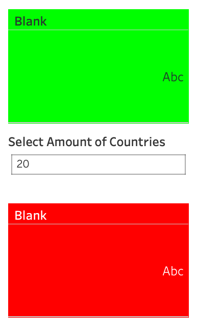 green and red blank sheets